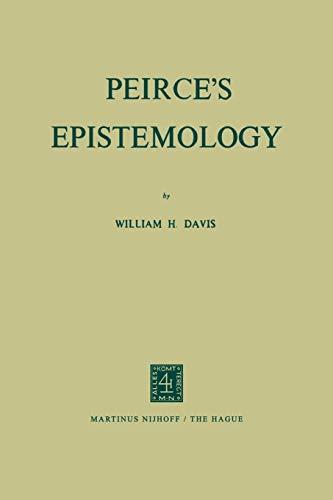 9789024712960: Peirce's Epistemology