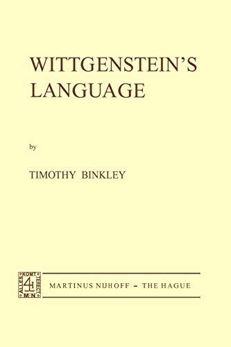 9789024715411: Wittgenstein's Language