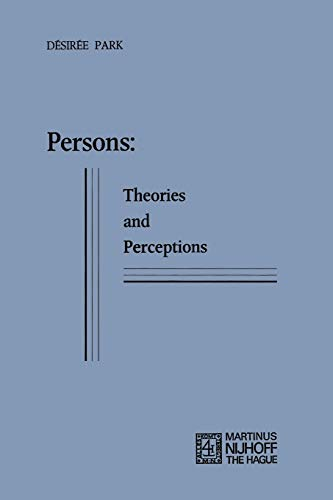 9789024715435: Persons: Theories and Perceptions