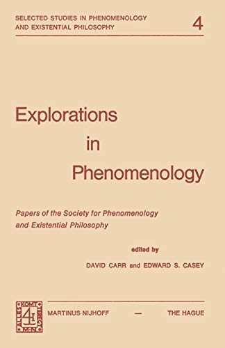 9789024715619: Explorations in Phenomenology: Papers of the Society for Phenomenology and Existential Philosophy (Selected Studies in Phenomenology and Existential Philosophy)