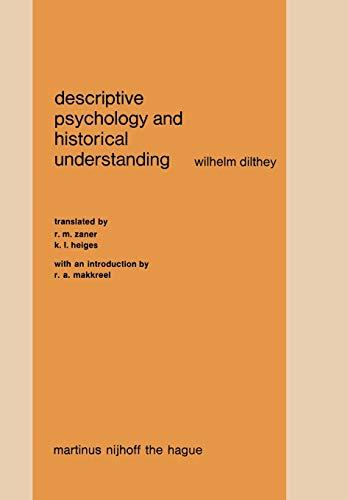 9789024719518: Descriptive Psychology and Historical Understanding