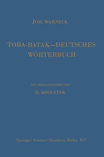 Toba-Batak-Deutsches Wörterbuch.: Warneck, Joh.