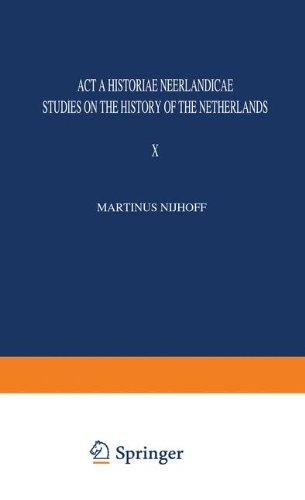 Acta Historiae Neerlandica. Studies on the History: SCHÖFFER, I, J.A.