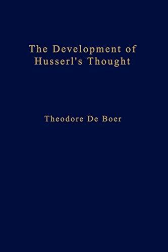 9789024721245: The Development of Husserl's Thought (Phaenomenologica)