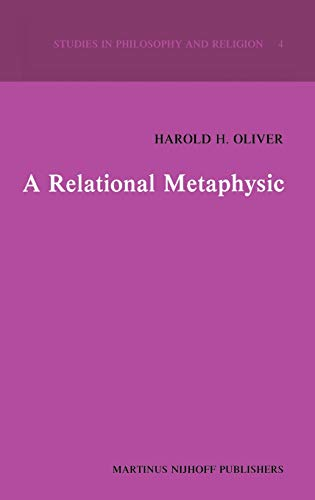 9789024724574: A Relational Metaphysic (Studies in Philosophy and Religion)