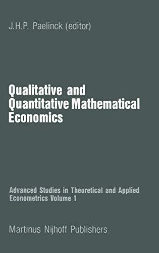 Qualitative and Quantitative Mathematical Economics: Paelinck, Jhp