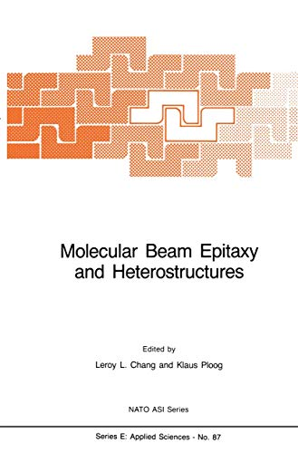9789024731183: Molecular Beam Epitaxy and Heterostructures (Nato Science Series E:)