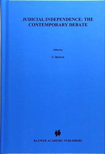 9789024731824: Judicial Independence, the Contemporary Debate