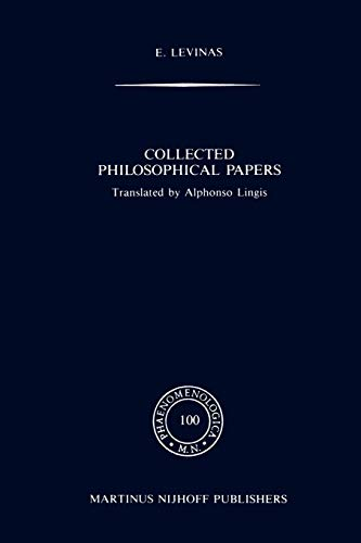 9789024733958: Collected Philosophical Papers (Phaenomenologica)