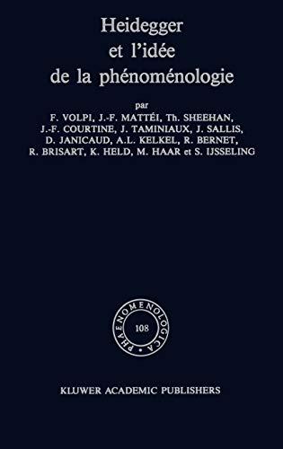 9789024735860: Heidegger Et L'Idee De LA Phenomenologie