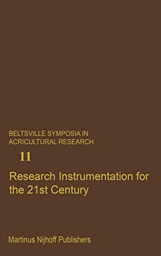 9789024735952: Research Instrumentation for the 21st Century (Beltsville Symposia in Agricultural Research)