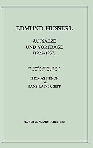 Aufsätze und Vorträge (1922-1937) (Husserliana: Edmund Husserl Gesammelte Werke, Band 27) - Husserl, Edmund