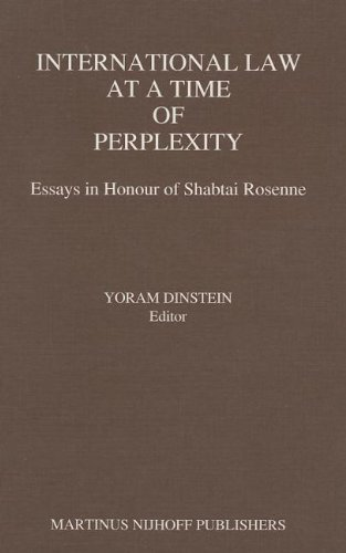 9789024736546: International Law at a Time of Perplexity:Essays in Honour of Shabtai Rosenne