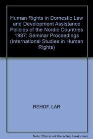 Human rights in domestic law and development: Rehof, Lars Adam