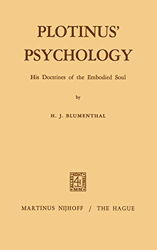 9789024750375: Plotinus' Psychology: His Doctrines of the Embodied Soul