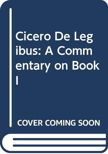 M. Tullius Cicero De legibus. A commentary: Kenter, L. P.: