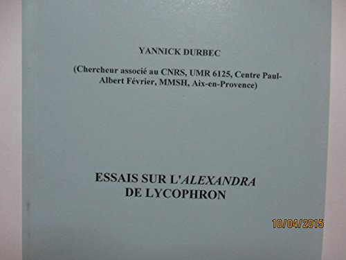 9789025612597: Essais sur L'Alexandra de Lycophron