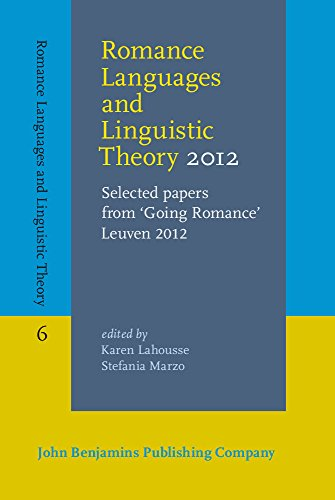 Romance Languages and Linguistic Theory 2012: Karen Lahousse