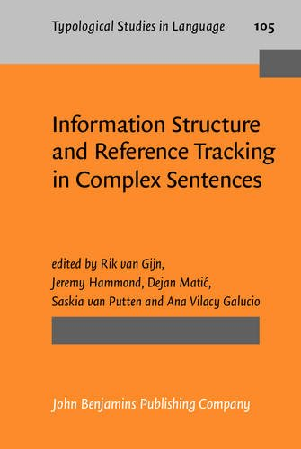9789027206862: Information Structure and Reference Tracking in Complex Sentences (Typological Studies in Language)