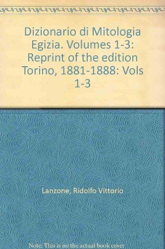 9789027209313: Dizionario Di Mitologia Egizia: Reprint of the Edition Torino, 1881–1888: 1-3