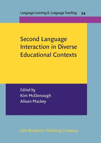 9789027213099: Second Language Interaction in Diverse Educational Contexts