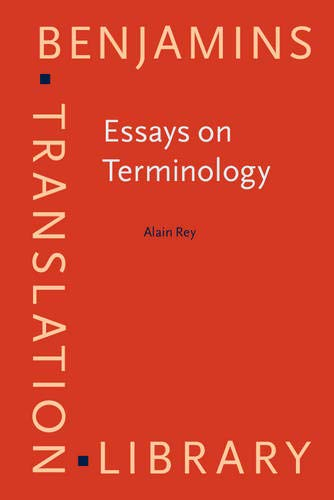 9789027216083: Essays on Terminology (Benjamins Translation Library)