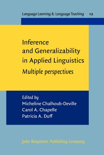 9789027219633: Inference and Generalizability in Applied Linguistics: Multiple perspectives (Language Learning & Language Teaching)