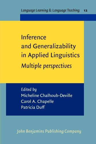 9789027219640: Inference and Generalizability in Applied Linguistics: Multiple perspectives (Language Learning & Language Teaching)
