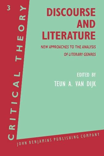 9789027224064: Discourse and Literature: New Approaches to the Analysis of Literary Genres (Critical Theory)