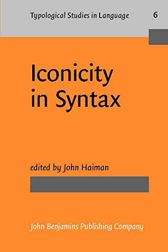 9789027228710: Iconicity in Syntax: Proceedings of a symposium on iconicity in syntax, Stanford, June 24-26, 1983 (Typological Studies in Language)