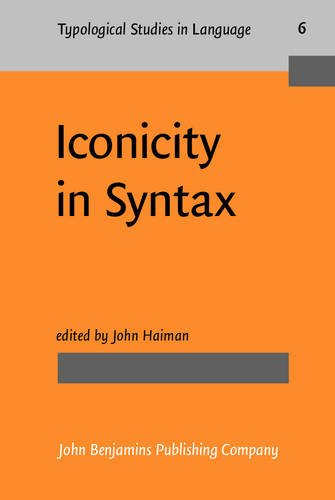 9789027228727: Iconicity in Syntax: Proceedings of a symposium on iconicity in syntax, Stanford, June 24-26, 1983: Proceedings of a Symposium on Iconicity in Syntax, ... 24-6, 1983 (Typological Studies in Language)