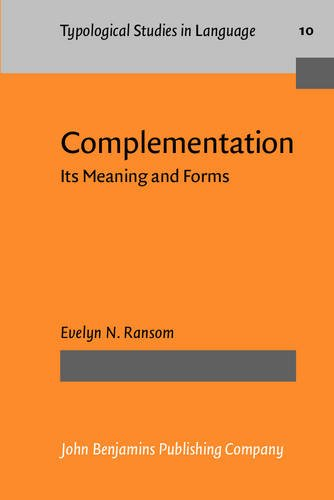 9789027228796: Complementation: Its Meaning and Forms (Typological Studies in Language)