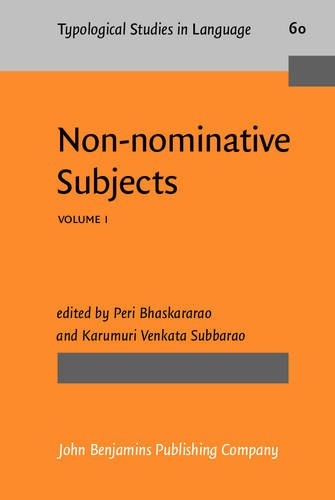 9789027229700: Non-nominative Subjects: Volume 1 (Typological Studies in Language) (Vol 1)
