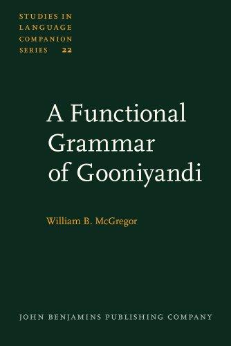 9789027230256: A Functional Grammar of Gooniyandi (Studies in Language Companion Series)