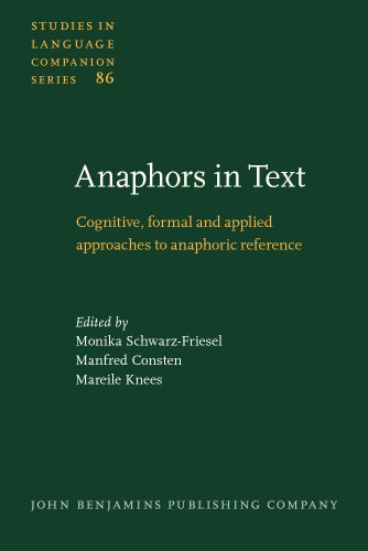 9789027230966: Anaphors in Text: Cognitive, formal and applied approaches to anaphoric reference (Studies in Language Companion Series)