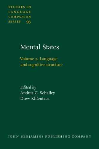 Mental States: Volume 2: Language and cognitive: John Benjamins Publishing