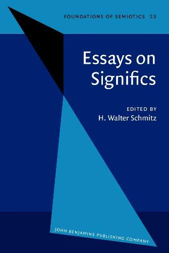 Essays on Significs: Papers presented on the