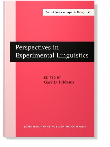 Perspectives in Experimental Linguistics: Papers from the University of Alberta Conference on ...