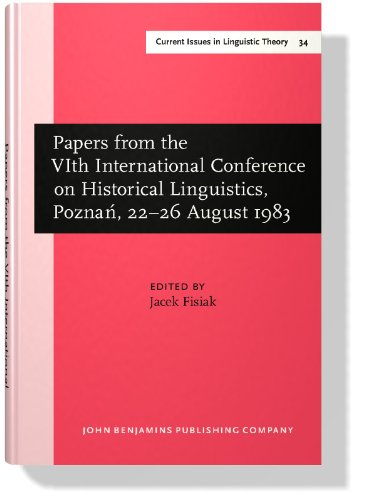 Papers from the 6th International Conference on Historical Linguistics (Amsterdam Studies in the ...