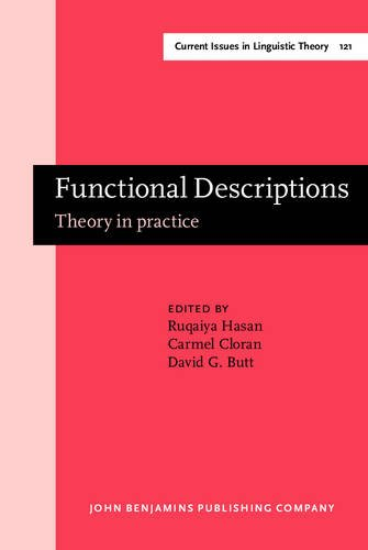 9789027236241: Functional Descriptions: Theory in practice (Current Issues in Linguistic Theory)