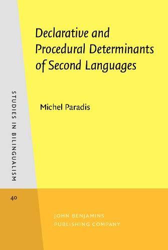 9789027241764: Declarative and Procedural Determinants of Second Languages: 40