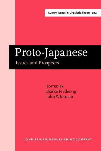 Proto-japanese. Issues and prospects.: FRELLESVIG (Bjarke), WHITMAN (John) [Ed.]