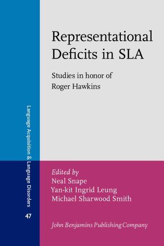 Representational Deficits in SLA: Neal Snape