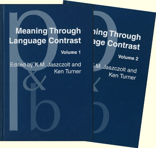 Meaning Through Language Contrast 2 volume set