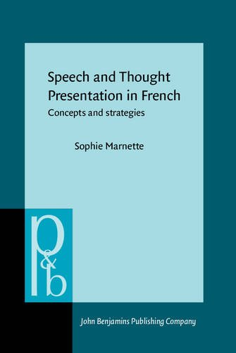 9789027253767: Speech and Thought Presentation in French: Concepts and strategies