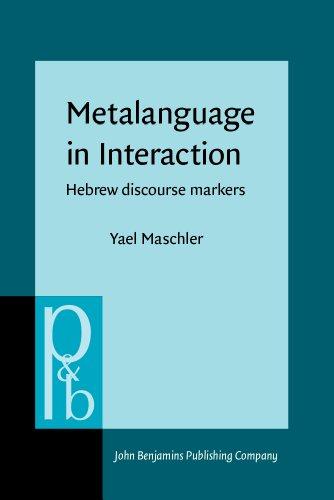 9789027254269: Metalanguage in Interaction: Hebrew discourse markers (Pragmatics & Beyond New Series)