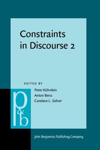 9789027254382: Constraints in Discourse 2 (Pragmatics & Beyond New Series)