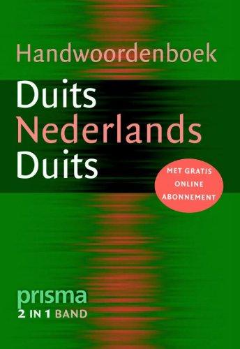9789027490902: Prisma Handwoordenboek Duits: Duits-Nederlands en Nederlands-Duits (Prisma handwoordenboeken)