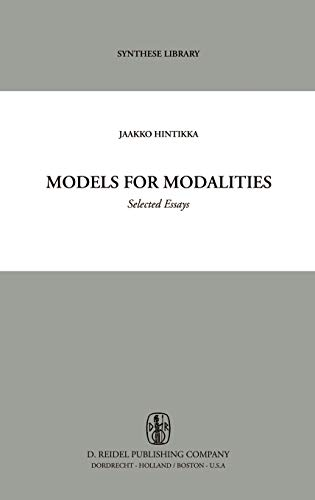 9789027700780: Models for Modalities: Selected Essays (Synthese Library)