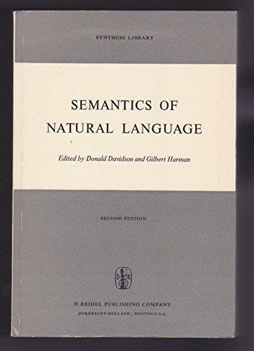 Semantics of Natural Language: Davidson, Donald & G. Harman, Editors
